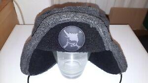 RARE grey mix OAKLEY Moscow Trapper style SKULL logo warm winter fleece Beanie