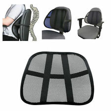 1x Vent Cushion Mesh Back Lumbar Brace Support Car Office Chair Truck Seat QT