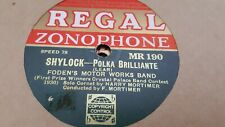 FODENS MOTOR WORKS BAND SHYLOCK & THE COSSACK REGAL ZONOPHONE MR190