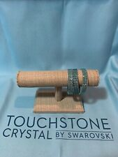 Touchstone Crystal by Swarovski, Tri-Wrap Bracelet, Aqua,