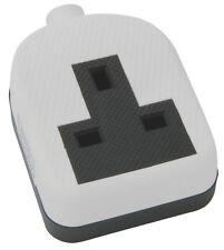 Gomma indurita 1 Gang Bianco Trailing Extension Socket 13A singolo impatto resistente