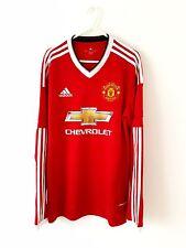 Manchester United Home Camicia 2015. i piccoli adulti. ADIDAS. Rosso S Man Utd solo parte superiore.