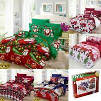Xmas Bedding Set Duvet Quilt Cover Comforter Covers Bed Sheet Pillowcase Decor
