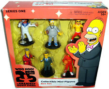 Simpsons 25th Anniversary 6 Piece Collectible Mini Figures Box Set Guest Stars!