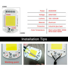 220V, 50W, 60X40MM Smart IC Driver Cool White LED Floodlight COB Chip Integrated