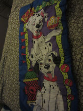 Vintage Disney 101 Dalmatians Kids Sleeping Bag Blanket Bedding Dogs Woof EUC