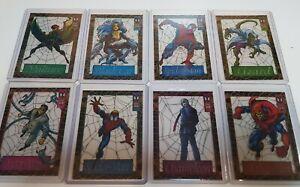 1994 Suspended Animation lot of 8 cards Spider-man Lizard Hobgoblin Chameleon