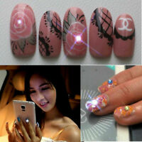 NFC nail art LED flashing light sticker with 17 decorative nail Gift stick S0C9