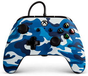 PowerA Wired Controller for Microsoft Xbox One - Marine Camo Blue (1508486-01)