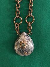 stephen dweck necklace Bronze & Marbled Blue Stone