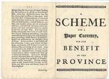 1916 Single Reprint of Rare Fry Publication of 1739 on Paper Currency