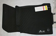 AUDI A4 RUBBER ALLWEATHER FLOOR MAT SET 2017-2018  -OEM Brand New 8W1061221041