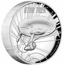 2016 Tuvalu Star Trek Enterprise High Relief 1 oz .999 Silver Coin - 6,000 Made