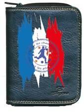 Porte monnaie porte carte noir Flamme Foot Football on est les champions France