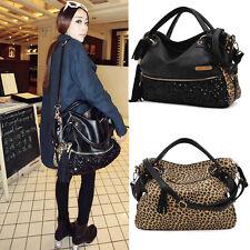 Women Ladies Leopard Large Sequin Totes Fashion Handbags Crossbody Bag Satchels