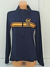 "VICTORIA'S SECRET VS PINK Collegiate 1/2 Zip ""Cal"" Graphic Sweater Size L BNWT"