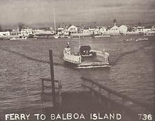 "NEWPORT BEACH Balboa Island FERRY BOAT Photo Print 955 11"" x 14"""