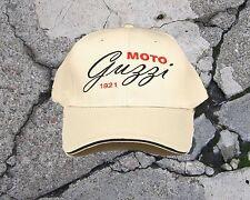 Moto Guzzi CURSIVE Cap/Hat...Sandwich Bill Stone and Black   CP85