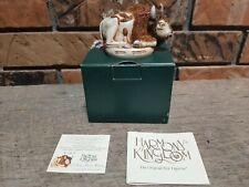 "Harmony Kingdom Tjbu "" O Give Me A Home "" Bison With Box And Paper Work"