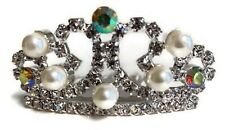 """Pearl & Rhinestone Tiara Crown for 18"""" American Girl Doll Clothes Accessories"""