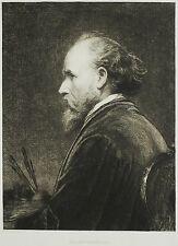 WILLIAM UNGER - Friedrich von Amerling - Selbstportrait - Radierung 1892