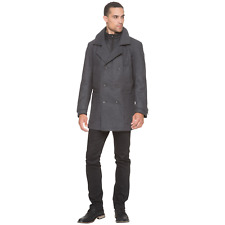 Men's Marc NY by Andrew Marc Mulberry Wool Coat Charcoal L #NKTU1-1058
