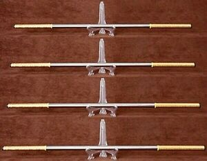 New Stainless Steel Monkey King Staff Kungfu Steel  Wushu Sticks Cudgels Carving