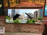Downtown Chicago Waterfront Panoramic Canvas Print Huge Framed Wall Art Decor