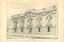 1903 Design For Picture Gallery For A Country Town Jb Fulton Perspective View