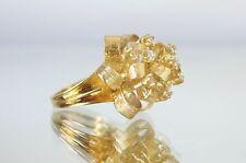 Vintage 18k Gold & Diamond Ribbon Style Cocktail Ring, Sz 6.75, .40tcw, 18.4g
