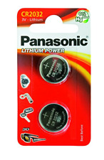 2 pile batterie CR2032 CR 2032 DL2032 BR2032 KCE2032 LM2032 PANASONIC 3V LITIO