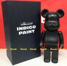 Medicom Be@rbrick 2014 CJ Mart Karimoku Wooden 400% Indigo Print Wood Bearbrick