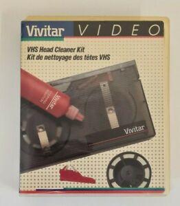 Rare Vintage 1988 Vivitar VHS Video Head Cleaner Kit Opened Never Used