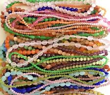 Closeout Clearance Cat's Eye Bead 50 Strands Rounds Faceted Ovals Huge Box Lot