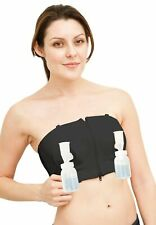 Simple Wishes Hands Free Double Pumping Bustier, Large/X-Large/2X-Large - Black