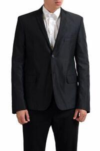 Exte Men's Black Striped Two Button Blazer Sport Coat Size 40 42 44 46