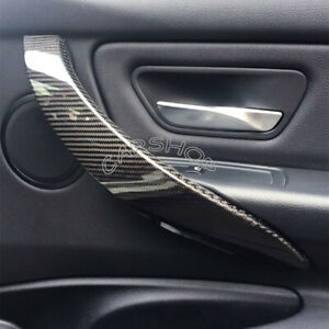 For BMW F30 F32 F80 F82 420i M4 Dry Carbon Fiber Interior Door handle Cover Trim