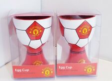 2 x Manchester United Football Egg Cups - Man United Egg Cups - Ideal Gift