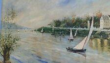 Tableau huile sur toile impressionniste. Vintage. French oil painting