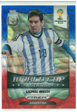 2014 Panini Prizm World Cup Stars Lionel Messi Blue Red Wave 1st Prizm Rare
