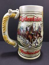 Budweiser Clydesdales Stein Beer Mugs 1983 Ananheuser Busch 50th Anniv Ceramarte