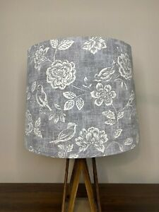 Iliv Bird Garden Gray and White Handmade Lampshade