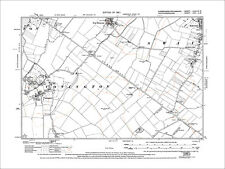 Conington, Fen Drayton (S), Swavesey (SW), old map Cambs 1927: 33SW