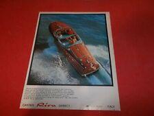 PUBBLICITA' 1971 ADVERTISING WERBUNG MOTOSCAFO AQUARAMA SPEEDBOOAT RIVA SARNICO