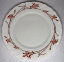 Lot85:6 Pequeñas Platos Planas Vintage Arcopal Francia. 19,5CM Decoración Flor