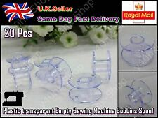 Brand New 20 pcs Plastic transparent Empty Sewing Machine Bobbins Spool