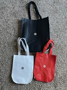 Lululemon Reusable Shopping Gift Bag Be All In Black Tote Lot Of 3