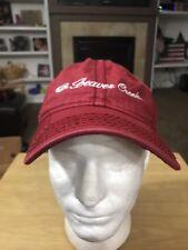 Beaver Creek Colorado Skiing Snowboarding Faded Red Baseball Cap Hat