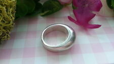 Beautiful Heavy Solid Tall Cigar Band Ring Real 925 Sterling Silver*Size7 *10Y
