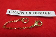1 INCH 14KT GOLD EP  1MM BUTTERFLY CURB CHAIN  EXTENDER FOR FINE CHAINS